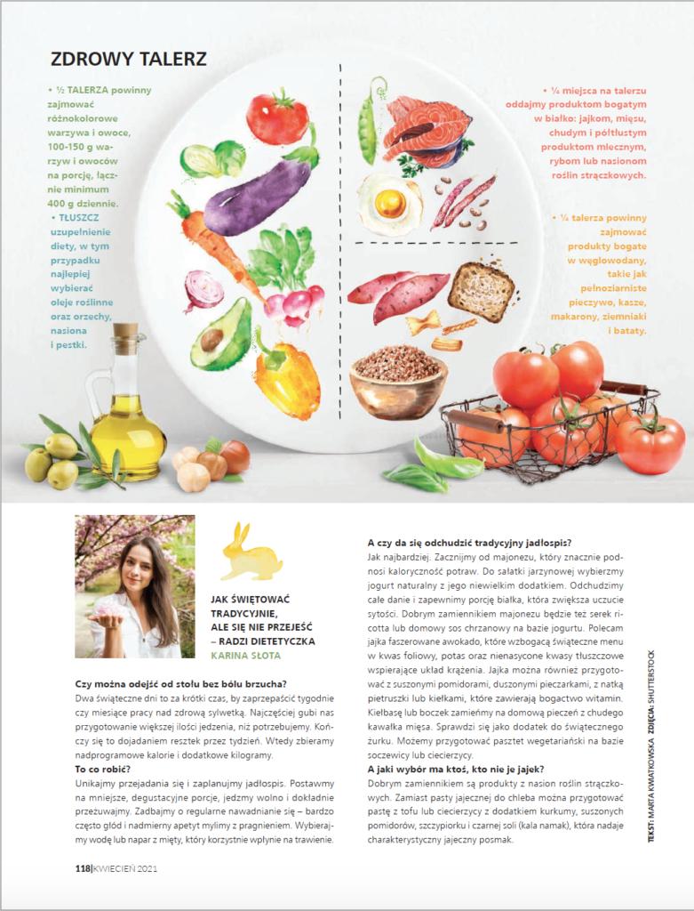 Jak przetrwać święta na diecie? Moja wypowiedź dla Weranda Country. Dietetyk Karina Słota